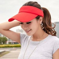 Wholesale Fashion Pure Color Summer Empty Top Visors Hats Baseball Caps For Men and Women Colors Available