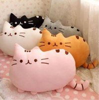 Wholesale 2014 new plusheen cushion stuffed Plush Fat cat plusheen Cushion Pillow I am Pusheen the cat Big tail cat plusheen shape pillow