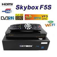 Wholesale Original Skybox F5S HD p PVR Satellite Receiver VFD Display Support USB Wifi Youtube Youporn Cccamd Newcamd MGcamd Same As Openbox V5S