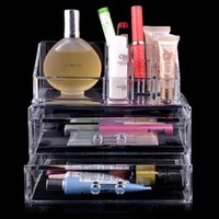 acrylic makeup organizer - Clear Acrylic Makeup Organizer Transparent Cosmetic Organizer Lipstick Display Holder Stand Organizer Cases Necessaries Makeup