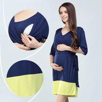beach nurse - Hot Nem Fashion Maternity Modal Lactation clothes Pregnancy Dresses Soft Breastfeeding Dress Nursing Skirts for Pregnant Women