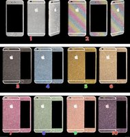 For Apple iPhone bling bling - Luxurious Full Body Bling Diamond shiny Glitter Rainbow Front Back Sides Skin Sticker cover For Iphone G p sumsung s3 s4 s5 s6