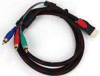Leather audio video cable types - 1 M p Nylon type High Speed HDMI Male to RCA RGB Audio Video AV Component Cable