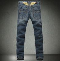 robin jeans - 2014 jean men pants robin jeans Slim Straight in Jeans cowboy high fashion famous brand men blue jeans