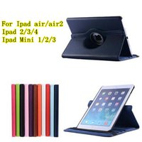 for ipad2 - For Ipad air ipad air ipad2 ipad mini1 Degregree Rotary cover case Stand PU Leather Cover Cases colors up