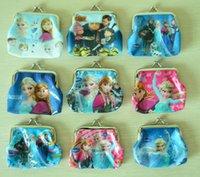 anna bag - New girls Frozen Despicable Me Coin Purses kids Snow Queen wallet chilldren princess Elsa Anna money bag party supplies Kids gift bag B001