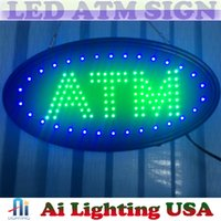 Wholesale 20pcs whosale price Hot sale ship to USA x10 x0 LED ATM sign green colour sign