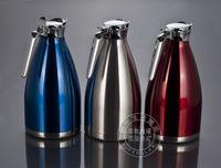 Wholesale 12pcs Creative household Fashion stainless steel thermal pot flagon tea kettle Coffee maker J13304
