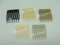 Wholesale Wig Accessories Seven tooth Plastic Comb cm cm Hair Wig Combs and Clips For Wig Cap Free DHL Fatory Direct