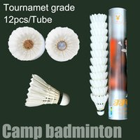 goose feathers - 1Dozen Tube Badminton Goose Feather Shuttlecocks Tournament Grade Consistent Trajectory DAYI Brand Can Be Customized