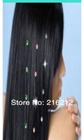 Wholesale 800packs New trendy iron on hair crystals hair bling