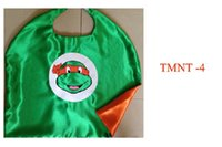 Wholesale 20pcs L70 W70CM double sided cape teenage mutant ninja turtles kids cape for Children