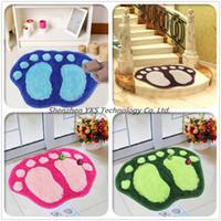 Wholesale Cute Anti slip Bath mat door mat bathroom waste absorbing big feet mats X40CM High quality