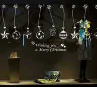 ball chain stores - Christmas Christmas balls bells hanging chain Home Decoration Stores Showcase decorations Glass Sticker cm cm