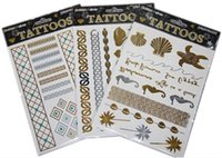 Wholesale 2014 New Popular Temporary Tattoo Stickers Bronzing Hot Silver Flash of Inspiration Tattoo Stickers Bling