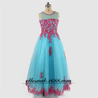 amazon pictures - Speed sell through amazon foreign trade heat sell Europe and America high archives Lace applique show Flower Girl Dress Suit Goods in stock