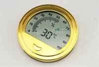 Wholesale Nice Accessories MINI Round Digital Humidor Dedicated Homothermal Electronic Accurate Cigar Hygrometer