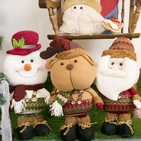best christmas figurines - Santa Claus snowman elk doll for Christmas doll for Christmas Plush toys gifts Christmas Decorations best selling