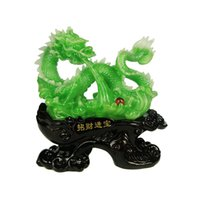 Wholesale Imitation jade crafts resin Lucky Queen dragons Hannaford home decorations Home Decoration FY1053