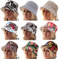 Cheap Hot new sale 9 designs stock for choose men ladies Bohemia style sun hat canvas material