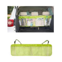 Wholesale TOP Hot Sale New Universal x34cm Car Seat Tidy Organiser Multi Pocket Auto Travel Storage Bag Hanger Holder Pouch Green Color