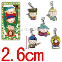 aqua parks - ANIME South Park metal pendants Hang buckle figures keychain fashion alloy colorful keyring set