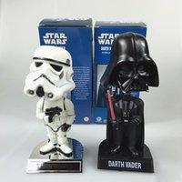 Wholesale Star Wars Action Figures Dolls Toys Black Knight Darth Vader Stormtrooper Shaking Head Star Wars PVC Action Figures with Retail Box