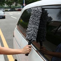 Wholesale Super Soft Chenille Nano Fiber Car Duster Brushes Stainless Steel Extendable Handle