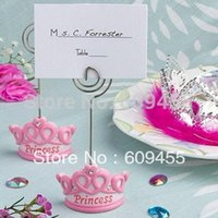 best baby names - Lovely Design Pink Crown Themed Princess Name Card Holder Best For Baby Party Decorations