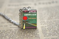 atlas shrugged - 12pcs Atlas Shrugged Book Locket Necklace silver tone VISION