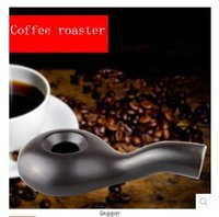 bean roaster - 2016 New Arrival Ceramic Coffee Roaster Gas stove Roasted coffee beans kerosene lamp Roasted coffee machine Kitchen supplies