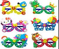 Wholesale eva Diamond glasses for children birthday gift DIY manual paste production of three dimensional stereoscopic D sticker