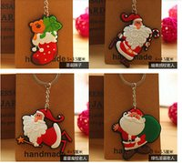 animal toy series - Chrismas Keychain casual key ring my little pony toys key chains key holder D cartoon Santa Claus Series key chains DHL