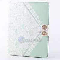 apple ipad synthetic - Luxury Strap Lace Bow Wallet Synthetic Leather Case Cover For Apple ipad for ipad ipad ipad Case Stand Flip Holder