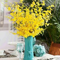 artificial orchid flower - Beautiful Real Touch Artificial Oncidium Orchid Silk Flower Home Wedding Party Decoration GYH TWL