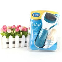 beauty supplies - 2015 Scholl Velvet Smooth Express Pedi Electric Feet File Health Beauty Foot Care Tool Foot Cares Supply Foot Care Tools DHL