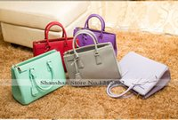 name brand purses - Hot hight quality Fashion famous brand name pra shoulder purses bags for women genuine leather designers women handbags P74