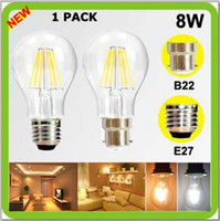 Wholesale 2 year warranty V V V V W LED filament bulb degree a60 a19 E27 B22 bayonet led global COB led retro edision bulbs