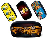 Wholesale Despicable Me Pencil case the Minions style dacron pencil bag little yellow guy children stationery storage bag kids gift LJJH196