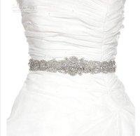 Wholesale Latest New Fashion Crystal Shine Beaded Hand Made Wedding Belt Bridal Sash With Crystal And Rhinestone Wedding Dress Sash Bridal