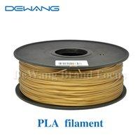 Wholesale DeWang R Golden D Printer mm Black PLA Plastic Filaments extruder kg Roll for d printing Pen Consumables order lt no t