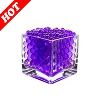 absorbent gel - 2014 Purple Color Centerpieces Water Absorbent Polymer Beads Crystal Mud Soil Water Beads Bio Gel Balls For Candle Holder