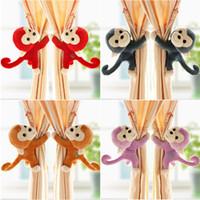 Wholesale Baby Kid Toddler Child Infant Nursery Bedroom Animal Cartoon Monkey Window Curtain Tieback Tie Back Decor Holder Buckle Holdback Hooks Clip