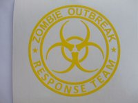3d carbon fiber vinyl - 9 Inches Zombie Outbreak Response Team Biohazard D Carbon Fiber Vinyl Stickers Warning Decals Danger Signs Labels For Car Window Wall Home