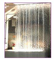 shower curtain - 1 m shower curtain bath curtain thicken D effect water proof water cube shower curtain