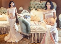 Wholesale New Pregnant Women Dress Photography Props Elegant Maternity Long Dress Pregnancy Photography Clothes