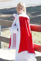 american made belts - 2016 Hot Cheap Hooded Flowers Girls Cape Custom Made For Wedding Christmas Cloaks White Ivory Faux Fur Winter Wedding Jacket Wraps Long