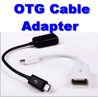 Wholesale Micro USB OTG Cable Adapter For HTC Samsung Sony Tablet Android Tablet PC MP3 MP4 Smart Phone