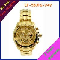 Wholesale New Gold EF FG A MEN S WATCH EF FG AV EF FG AV EF FG AV With Swing Pendulum function
