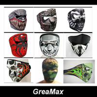 Wholesale Hot Sale Styles Designed Neoprene Full Face Mask Winter Veil For Bicycle Bike Cycling Motorcycle Ski Snowboard Skull Face Masks